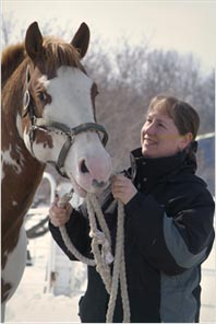 picture of Instructor and horse