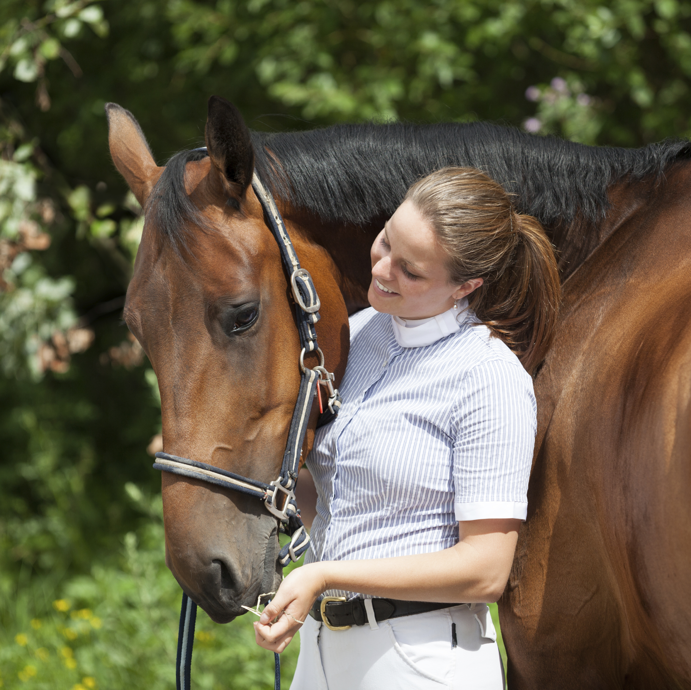 Horse Behaviour and Safety Youth Course - Girl and horse