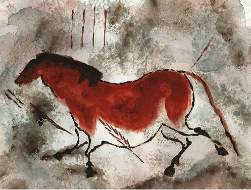 Cave painting of horse